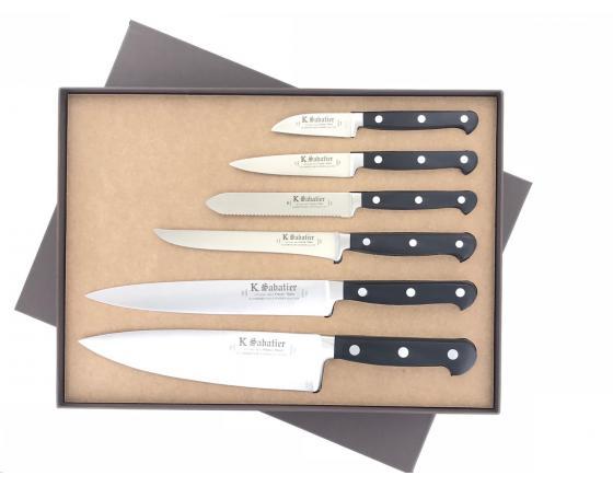 Coffret De 6 Couteaux De Cuisine Proxus Avec Tranchelard Sabatier K