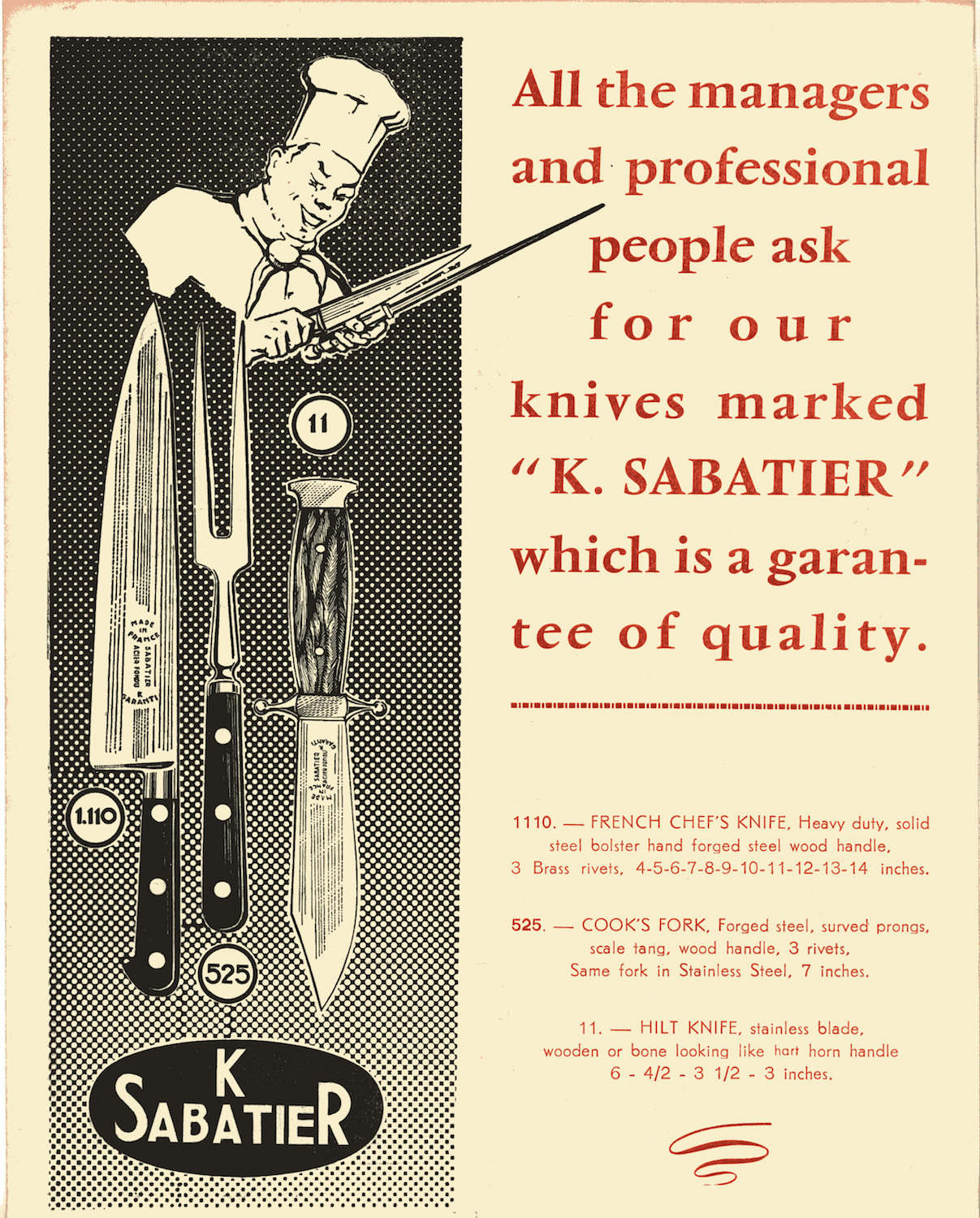 Old Sabatier catalog