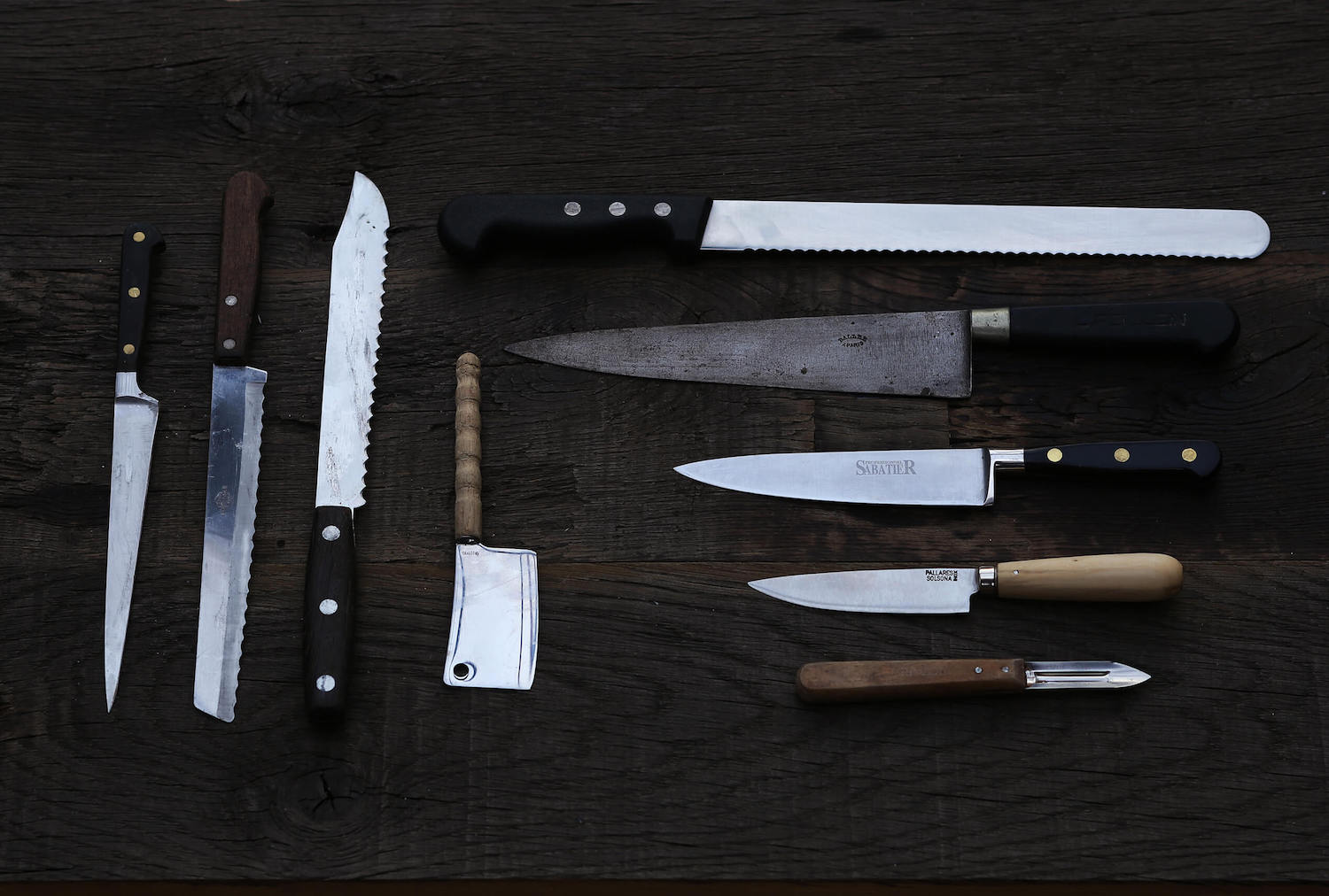 different kitchen knives