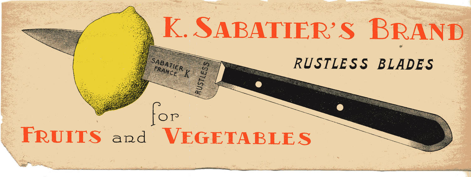 Stainless Steel Sabatier knife